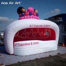 Подгонянная надувная станция для продажи, идея подставка для мороженого киоск для фруктов и напитков концессионная палатка с счетчиком для продвижения