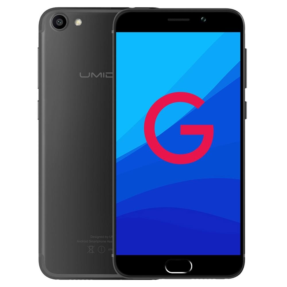 Original UMIDIGI G 4G LTE Smartphone 5.0 inch Android 7.0 MTK6737 Quad Core 1.3GHz 2GB +16GB 2.0MP +8.0MP E-compass Mobile Phone