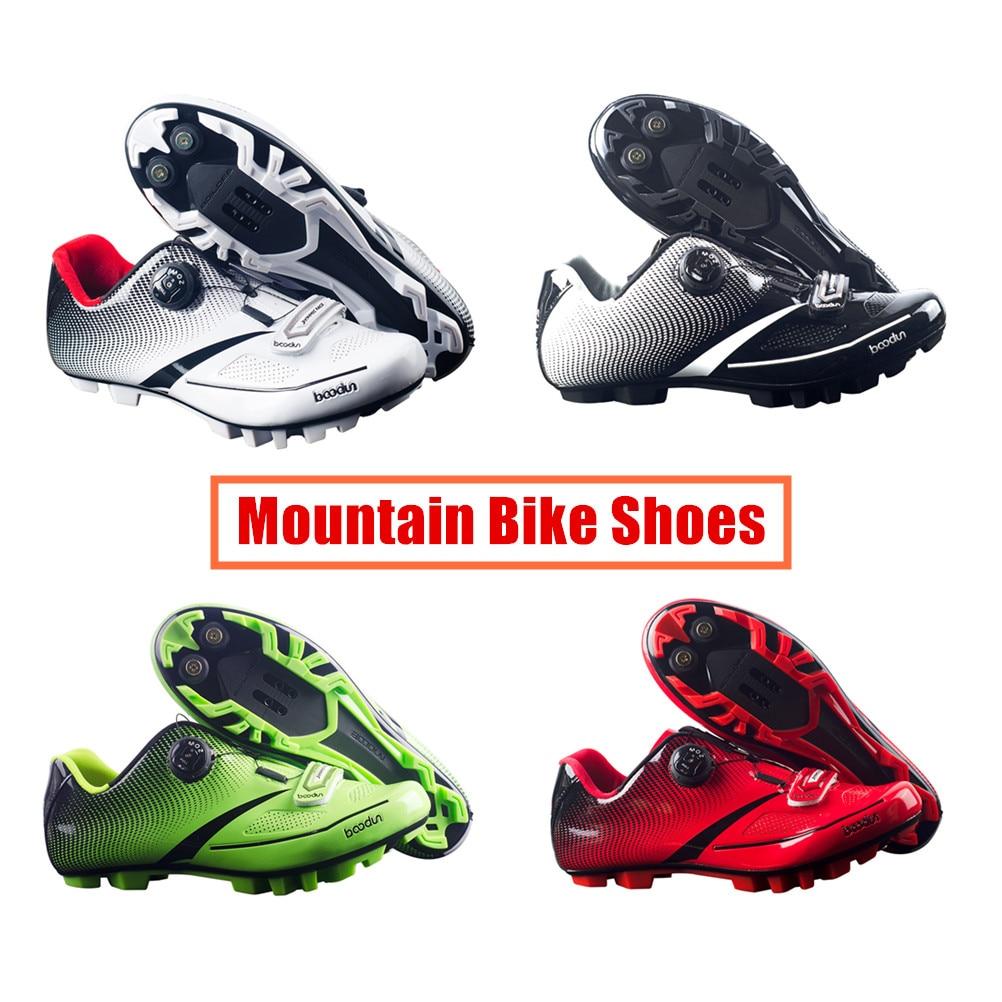 BOODUN Men's Cycling Shoes Road Bike Shoes Mountain Bike Bicycle MTB Shoes Reflective Cycle Sneaker Triathlon Racing Shoes