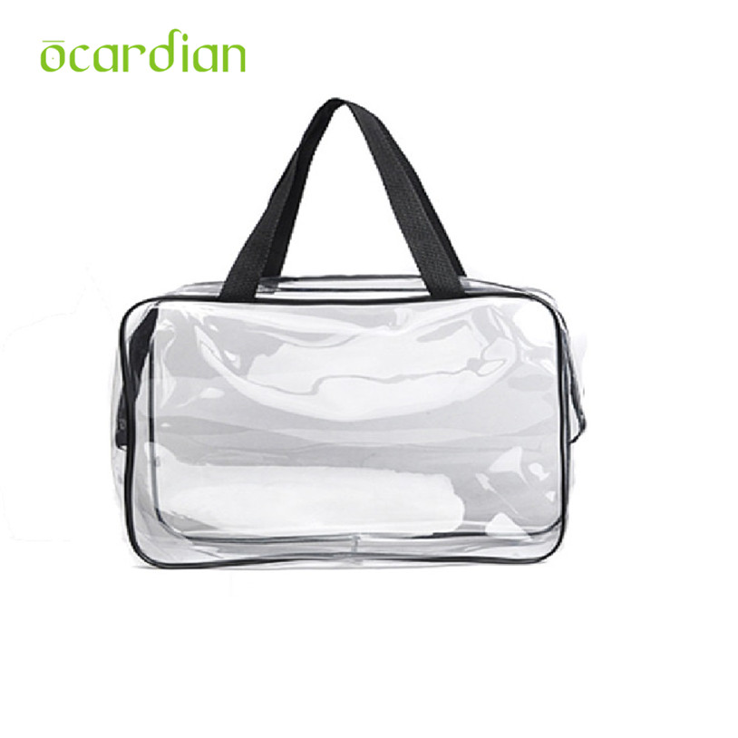 2017 New Portable Clear Travel <font><b>Cosmetic</b></font> makeup organizer <font><b>Bag</b></font> <font><b>Transparent</b></font> Storage <font><b>Bags</b></font> u70927 image