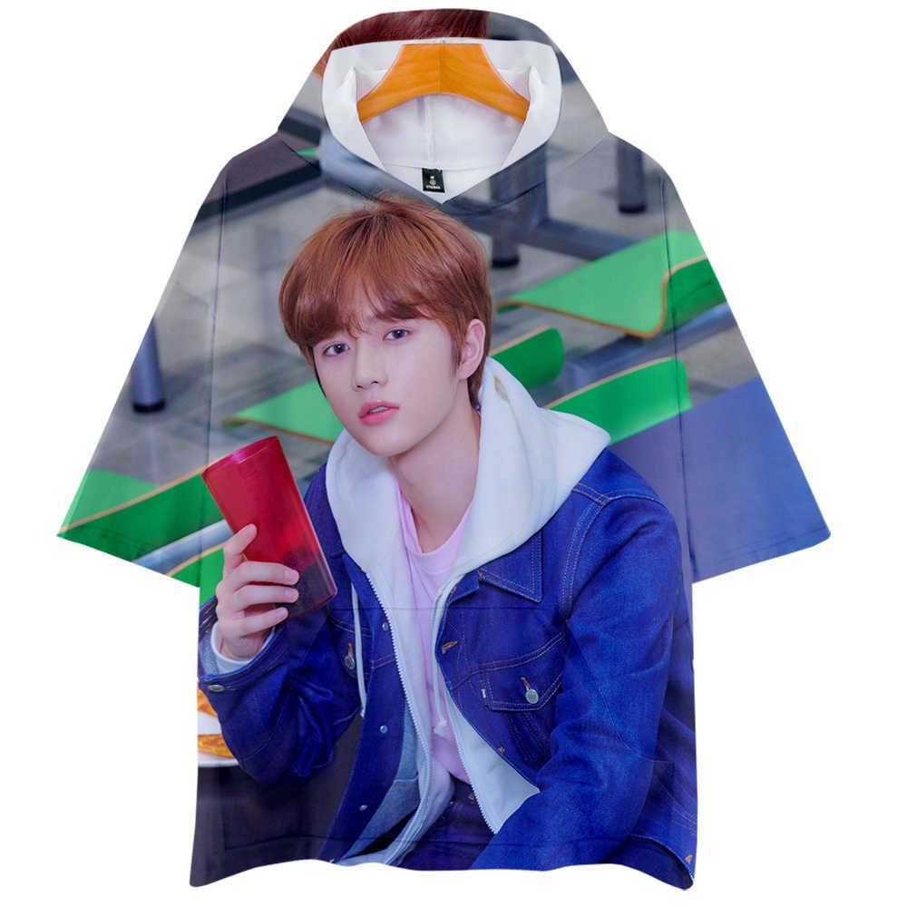 MORGEN X SAMEN Lid SOOBIN Sweatshirt cos hot korte mouwen hooded T-shirt unisex paar ouder-kind Koreaanse trend