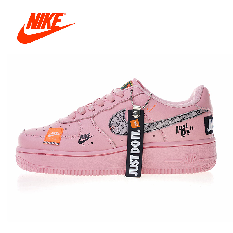 Original New Arrival Authentic Nike Air Force 1 Low Just Do It Women's Skateboarding Shoes Sneakers Good Quality 616725-800