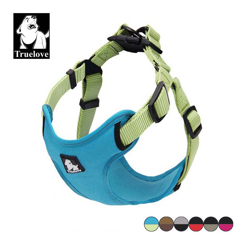 Truelove Polstret Reflekterende Hunder Harness Vest Pet Hund Steg In Harness Adjustable Ingen Trekk Pet Harnesses For All Dog Breed Hot