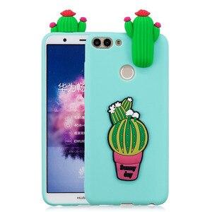 Image 3 - Умный чехол P, чехлы для Huawei P Smart Plus 2019, чехол для Huawei P Smart 2018, чехол с 3D единорогом, пандой, мягкий силиконовый чехол для телефона
