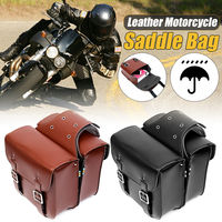 Left+Right Motorcycle Saddle Bags Large Capacity Motorbike Tail Side Bags Storage Tool for Harley for Honda