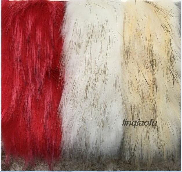 Haute imitation tresse cheveux fourrure artificielle tissu haute qualité fourrure collier fourrure en peluche tissu: 170*90 cm (une cour) un pcs - 2