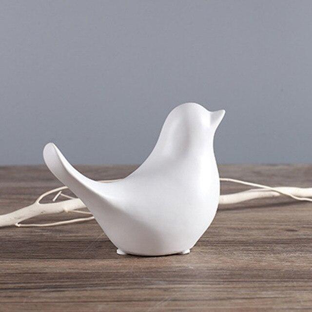 2019 NEW Ceramic Bird Abstract Ornament Matte Black White Glaze Decoration for Home 6