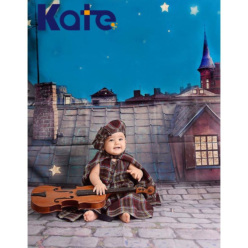 300 см * 200 см (около 10Ft * 6.5Ft) kate Фон Fundo ночное небо крыши Ширина фон фотостудия фоном Lk 3867