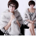 2016 New Retail Warm Faux Fur Ivory Bolero Wedding Wrap Shawl Bridal Jacket Coat Accessories Grey Black Free Shipping
