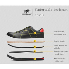 Breathable EU standard safety shoes Waterproof men Lightweight Two-layers of cowhide anti-smashing for work men good protection