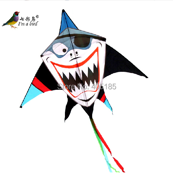 Free Shipping Outdoor Fun Sports Animal Shark Kite Pirate Kites With Flying Tools Handle And Line Factory Outlet