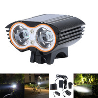 Leadbike Bicycle Front Light USB Rechargable Super Bright LED Bike Headlight Safety Warning Lights Night Riding