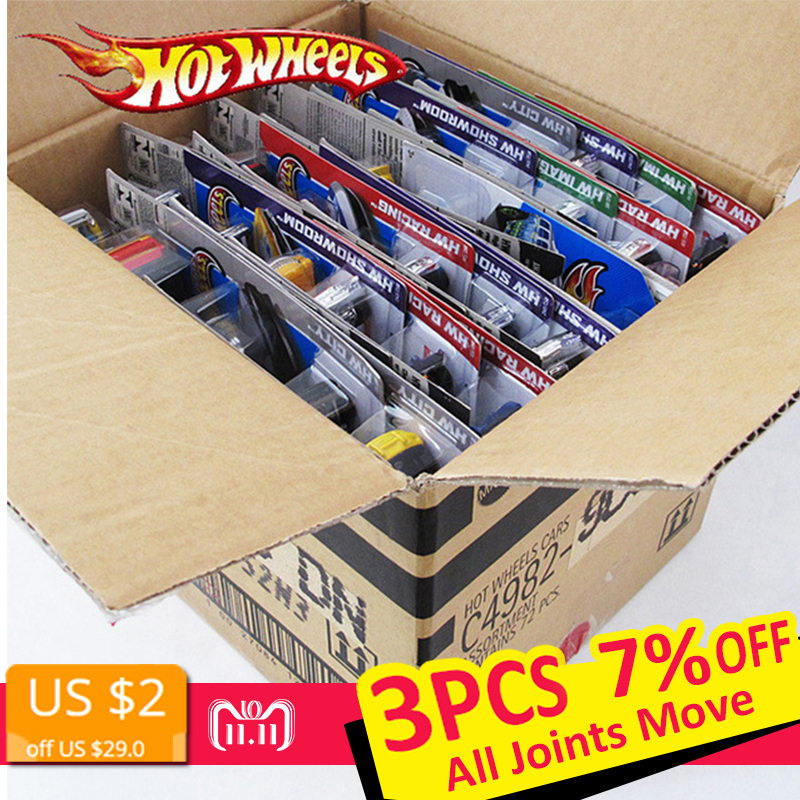 все цены на 72pcs/box Hot Wheels Diecast Metal Mini Model Car Brinquedos Hotwheels Toy Car Kids Toys For Children Birthday 1:43 Gift онлайн
