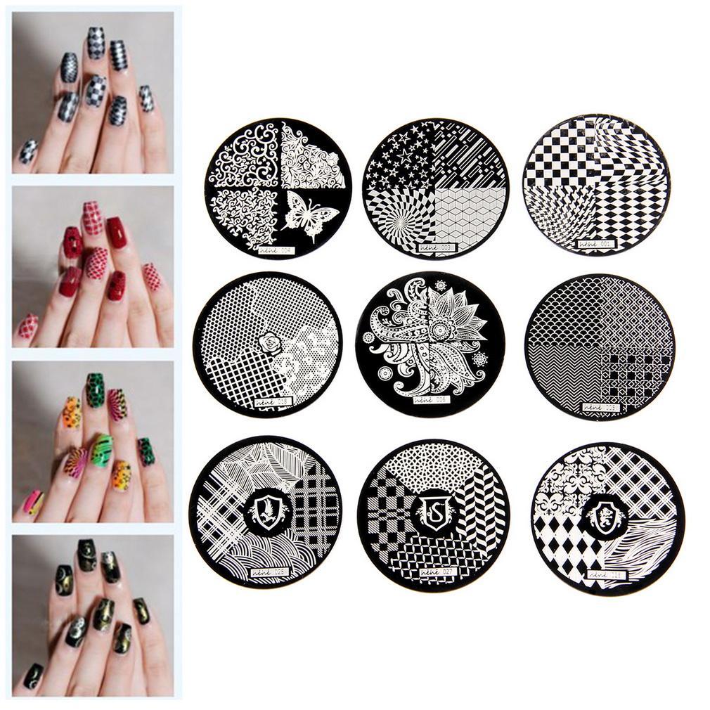 ᗚ1 unids moda DIY Manicura Stamp stamping Placas manicura plantilla ...