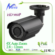 Waterproof Bullet Full HD IP digicam POE 2.Eight-12mm 4X auto zoom lens the CCTV safety surveillance system, together with bracket