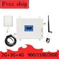 Усилитель сигнала для мобильного телефона  GSM WCDMA LTE  900/2100/2600 МГц  70 дБ  2G  3G  4G  LTE  2600 МГц