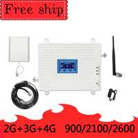 TFX-BOOSTER 900/2100/2600MHZ GSM WCDMA LTE Cell Phone Signal Booster Gain 70db 2G 3G 4G LTE 2600mhz Repeater Cell Phone Booster