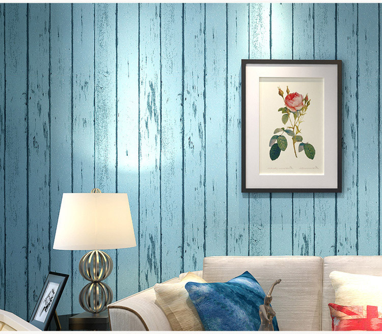Aliexpress.com : Buy Non woven Striped Wood Fiber Wallpaper Living ...