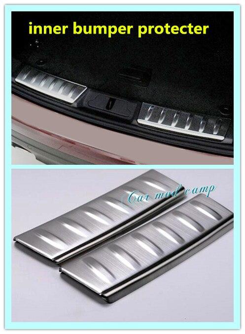 Freies verschiffen! 2 stücke Edelstahl Innen auto protecter hinten türschwellenverschleißplatte dekoration trim...