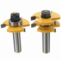 2pcs 1 2 Inch Shank T Handle Rail And Stile Router Bit Wood Working Cutter High