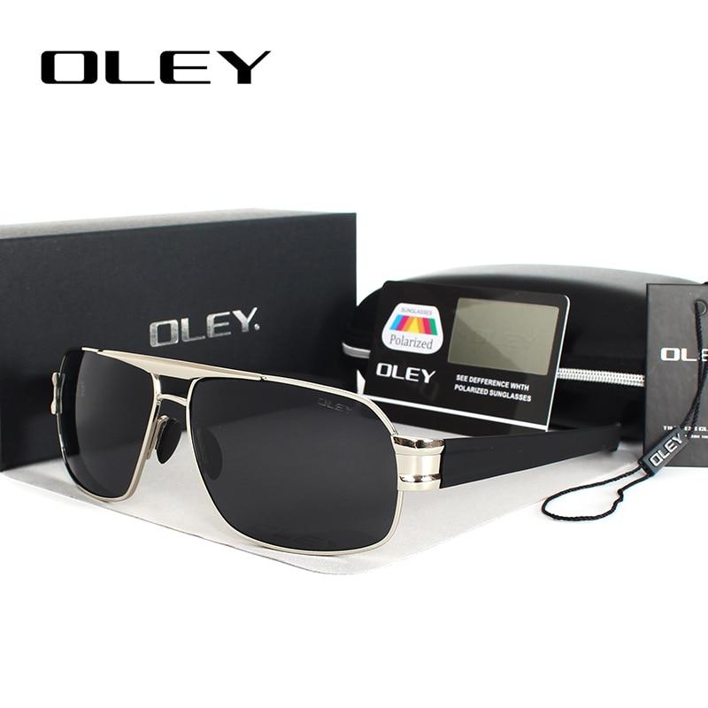 OLEY Polarized Kişi gözlükləri Marka Dizayneri UV400 Günəş - Geyim aksesuarları - Fotoqrafiya 3