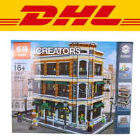 2017 New LEPIN 4616Pcs Starbucks Bookstore Cafe Model Building Kits Blocks Bricks Toy Gift Educational Children