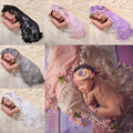 Baby  Photo Props Newborn Costume Photography Quilt Baby Tassel Ball Stretch Lace Scarf 6 Colors Photo Props Baby Clothing