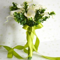Handmade High Quality Wedding Bouquet Bridesmaids Flowers Artificial Calla Lily Bridal Accessories For Party