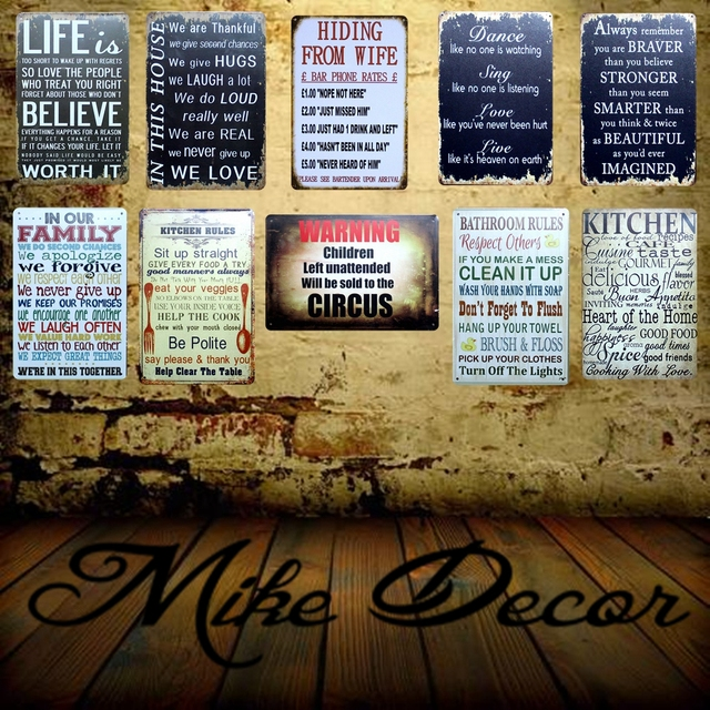 US $4 05 49% OFF|[ Mike86 ] Make THINGS Happen Quote Mural Painting Retro  Shoe Store Vintage Posters Metal Sign Decor 20X30 CM FG 1-in Painting &
