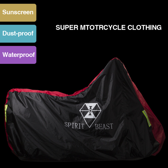 High Quality Waterproof Outdoor Motorcycle Moto Cover Electric Bicycle Covers Motor Rain Coat Waterproof Suitable for All Motors