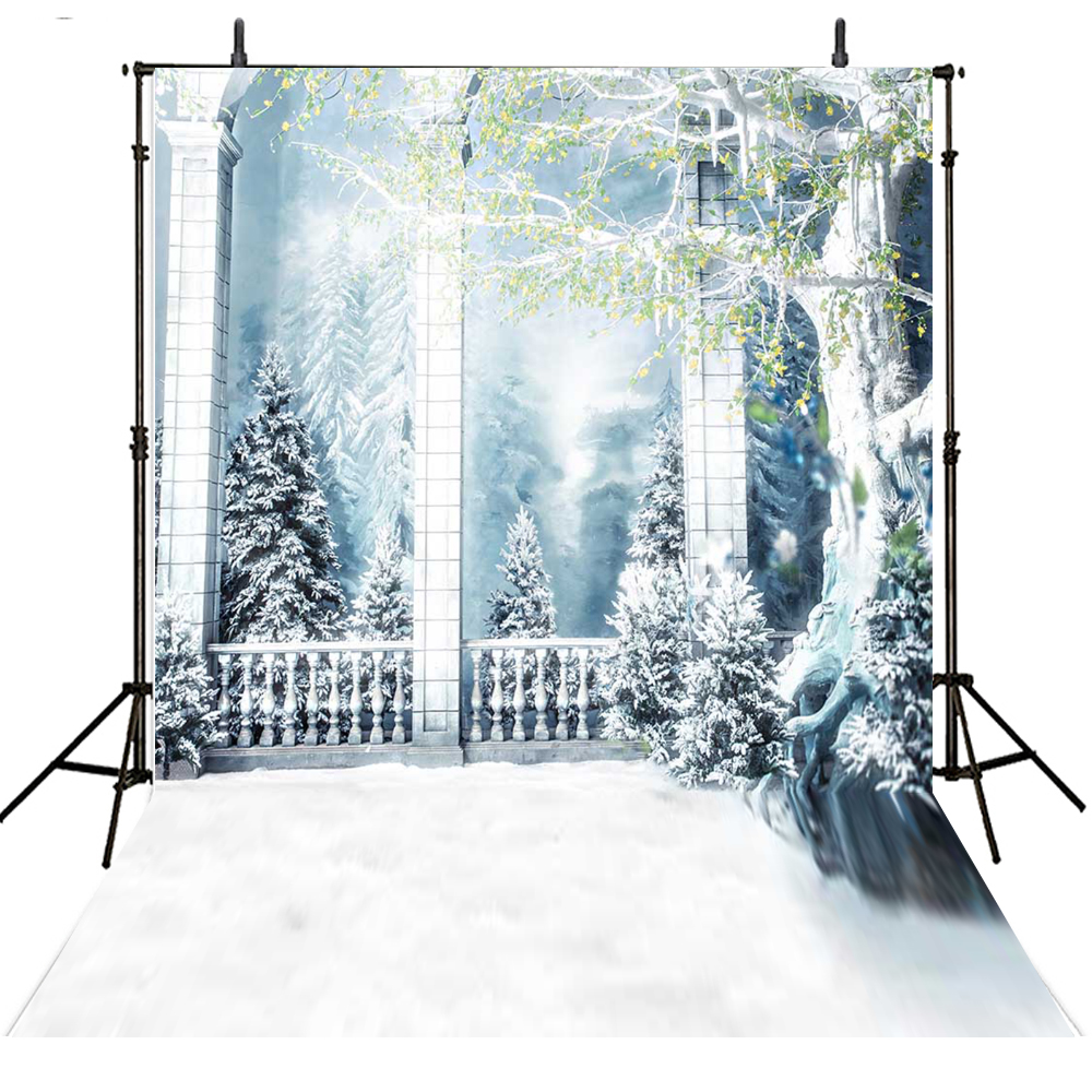 Romantic Snow Background Backdrop for Photography Wedding Photo Studio Backdrop for Photo Shoot Digital Printed 200x300cm white horse with snow falling pure wedding photos 10 6 5ft digital printed background for photo studio backdrops customize