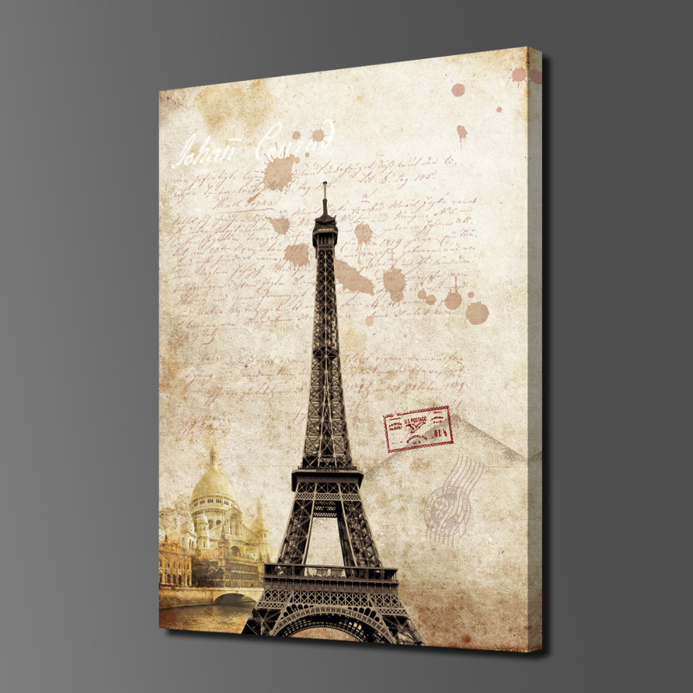 Paintings 1 piece hot sell paris eiffel tower picture on canvas paintings 1 piece hot sell paris eiffel tower picture on canvas arts modern home wall decor art hd print painting picture in painting calligraphy from jeuxipadfo Images