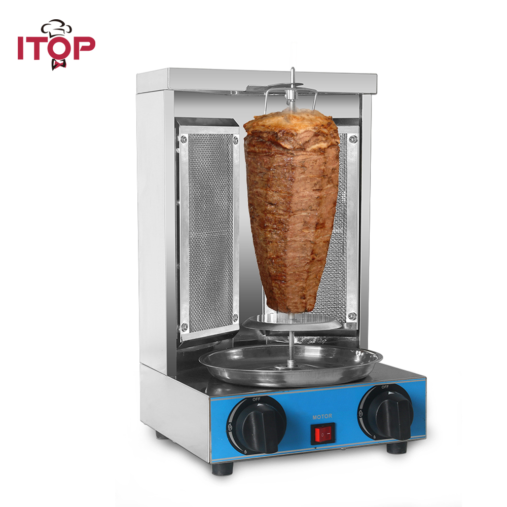 ITOP Home rotisserie broiler machine, two Infrared burners shawarma machine, Gas Doner kebab machine,Vertical Gas Bbq GrillITOP Home rotisserie broiler machine, two Infrared burners shawarma machine, Gas Doner kebab machine,Vertical Gas Bbq Grill