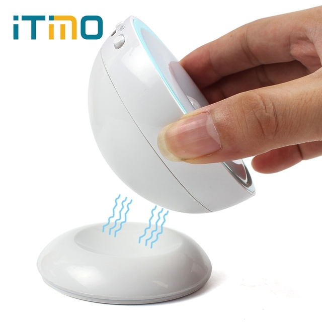 iTimo LED Night Light Magnetic For Hallway Pathway Stair IR Motion Sensor 360 Degree Rotate Rechargeable Lamp