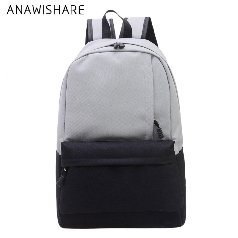 ANAWISHARE Women Canvas Backpacks Large School Bags For Teenagers Girls Rucksack Book Bags Laptop Mujer Mochila Escolar Feminina