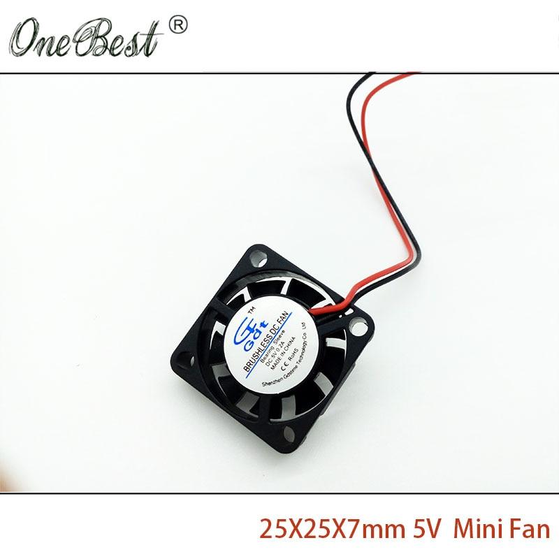 25X25X7mm Mini Fan DC 5V 2.5cm 25mm Brushless - საოფისე ტექნიკა - ფოტო 5