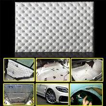 80*50 cm de Espuma de Aislamiento de Sonido del coche Firewall Sound Deadener Deadening Estera de papel de Aluminio de Aislamiento Coche Escudo Térmico de Control ruido