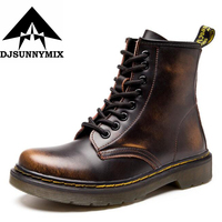 2017 New England Style Female S Autumn Winter 100 Genuine Leather Martin Boots Martin Shoes Unisex