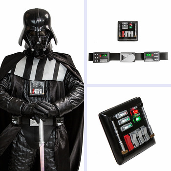 Star Wars Darth Vader Belt And Chest Plate Cosplay Prop Set Movie Cosplay Costume Accessories Party Cosplay Belts With LED Light