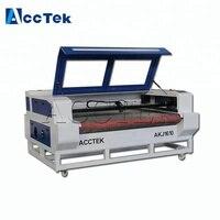 Высокоскоростная автоматическая подача AKJ1610 CO2 ЧПУ для лазерной резки для резки ткани кожа бумага и т. д. неметаллических