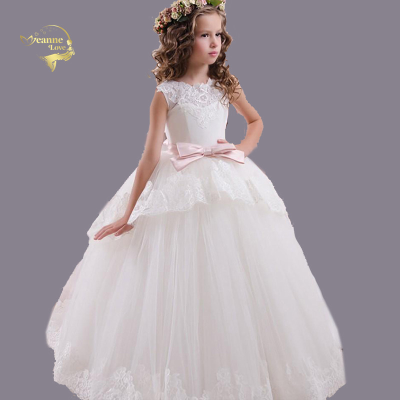Sleeveless Vintage   Flower     Girls     Dress   Kids Pageant   Dresses   Formal Occasion Ball Gowns Wedding Party Princess Tulle Tutu   Dresses