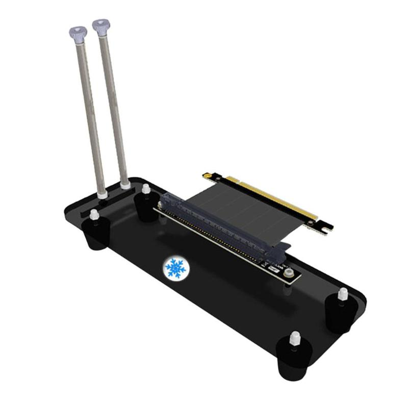 Graphics Cards Stand, Riser Card PCI-E3.0 16X Vertical Stand Holder Bracket+PCI-E Extension Cable for DIY ATX Chassis