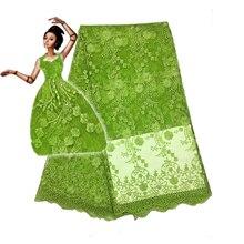 Акция 5 ярдов/lot 2017 высокое качество в нигерийском стиле французский Африки кружевной ткани для праздничное платье FC1628-TFO, Африка кружевной ткани