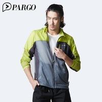 PARGO Skin Windbreaker Male Outdoors Adjustable A Hat Loose Coat Sports Running Sunscreen Men Coat UV