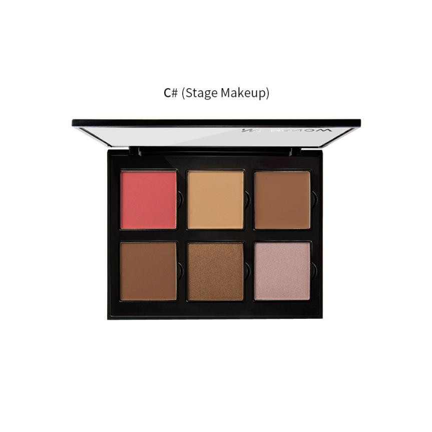 2017 Palette Maquiagem MENOW 6 Color Professionl Makeup Eyeshadow Camouflage Facial Concealer Blush Makeup Base Aug18