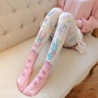 Fashion Women S Stockings Cute Cartoon Leg Warmer Japan Style Women S Stocking Pantyhose Knee High