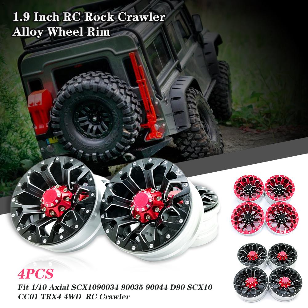 4PCS 1 9 Inch RC Rock Crawler Alloy Wheel Rim Beadlock for 1 10 Axial SCX10