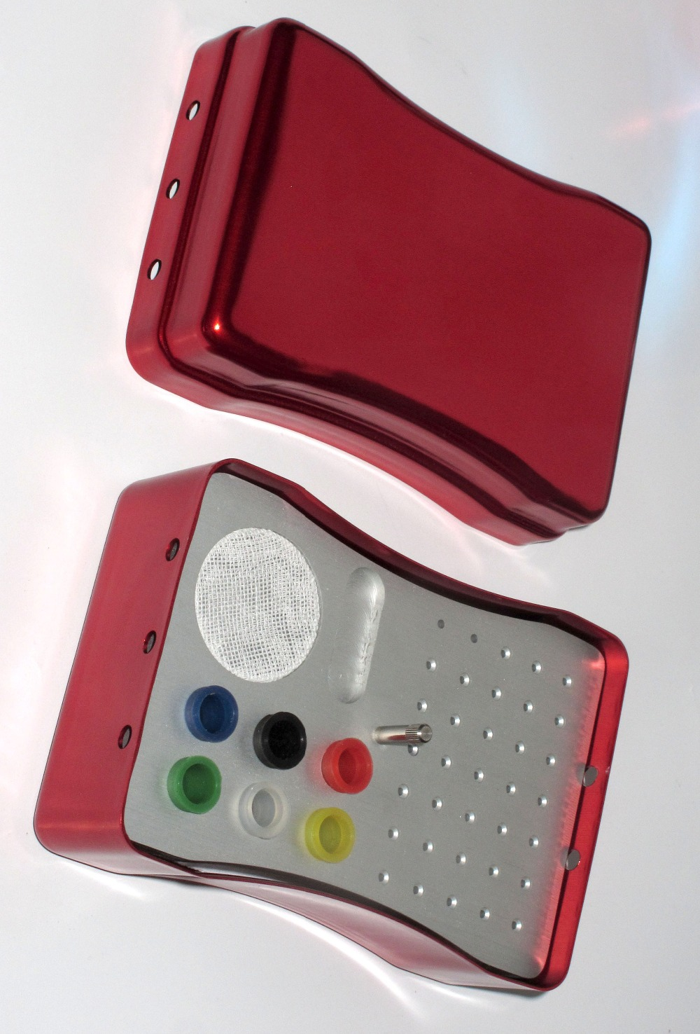 Boîte dentaire de 35 trous pour les fichiers endodontiques dentaires, point de papier absorbant, matériel de clinique de dentiste dentaire de petit instrument