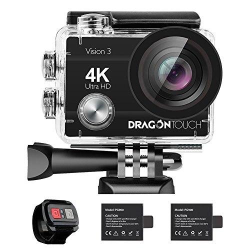 AKASO dragon touch 4 K caméra d'action 16MP Vision 3 sous-marine étanche caméra 170 grand Angle WiFi caméra de sport télécommande