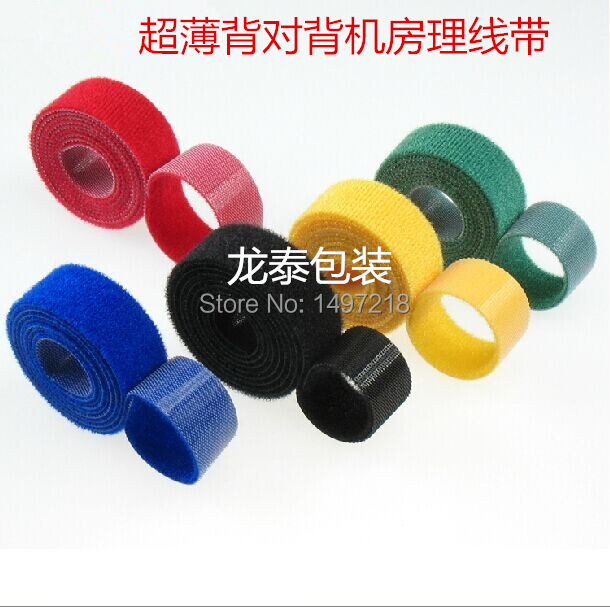 a51a8890c58b Freeshipping 3cmx5m/roll ultra thin magic tape cable tie nylon strap Power  Wire Management Magic Tape Sticks Hook & Loop Tape